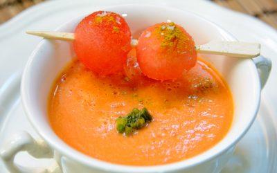Crema fría de sandía especiada al curry