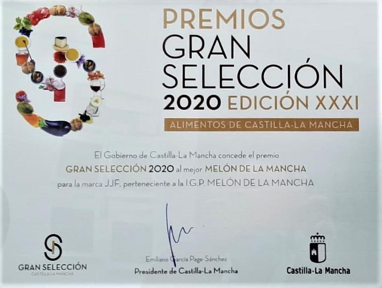 Agricola JJF gana el premio Gran Selección 2020 al Melón de la Mancha.
